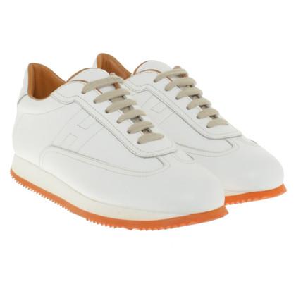 Hermès Lederen sneakers in wit