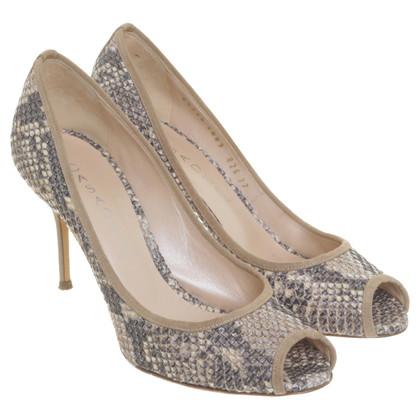 Casadei Peep-toes in a snakeskin look