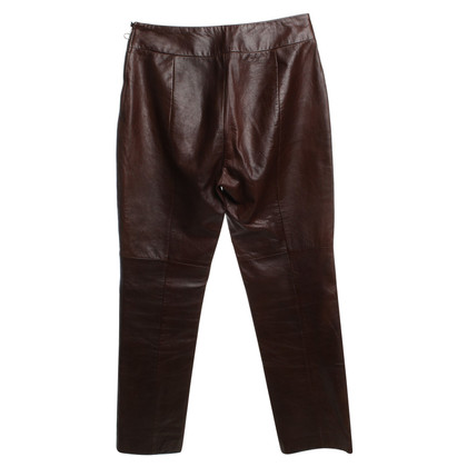 Marc Cain Leather pants in brown