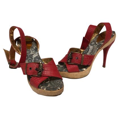 Just Cavalli Sandalen in het rood
