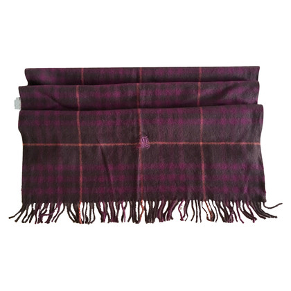 Burberry lana foulard in scuro viola e nero