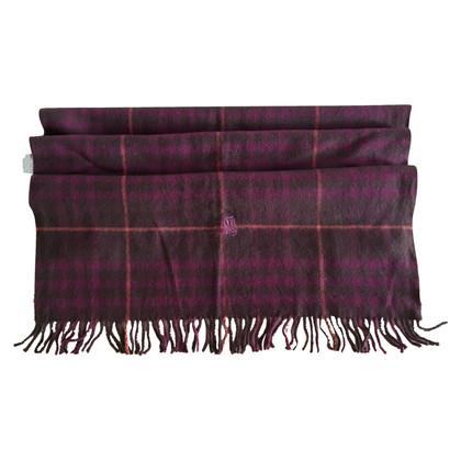 Burberry Wol sjaal in donker paars en zwart