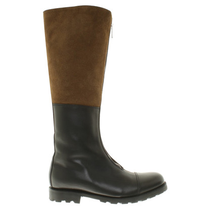 Ludwig Reiter Leather boots in black / khaki