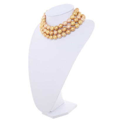 Chanel Three row pearl necklace