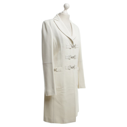 Moschino Coat in cream white