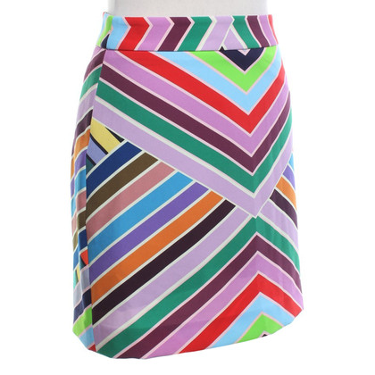 Milly skirt with stripe pattern