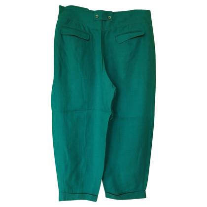 Kenzo Linnen broek in Turquoise