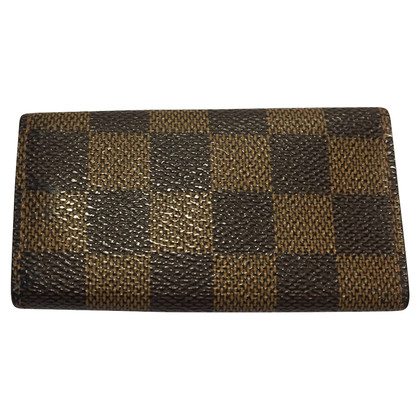 Louis Vuitton Chiave caso discusso Damier Ebene Canvas