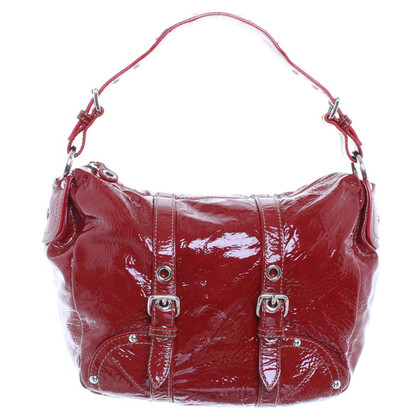 Car Shoe Patent leather handbag