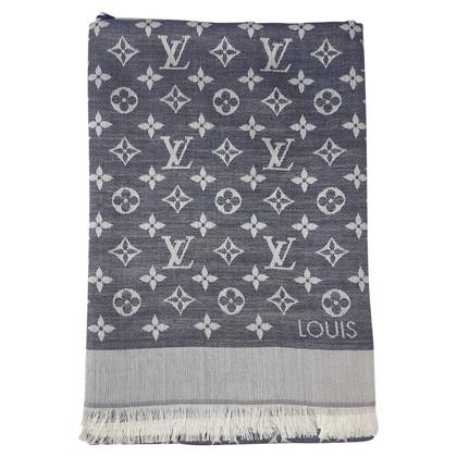Louis Vuitton Louis Vuitton Monogram Scialle Denim Blu