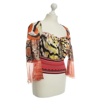 Just Cavalli Dierlijke print blouse