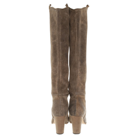 Billig Vermarktbare Isabel Marant Khakifarbene Lederstiefel Khaki Billig Neueste Kostengünstig BPiDlQIRd