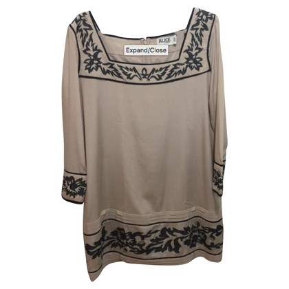 Alice By Temperley Silk Tunic with embroidery