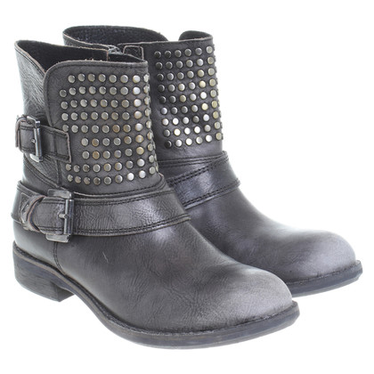 Baldinini Leather ankle boots in grey