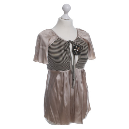 Elisabetta Franchi top with brooch