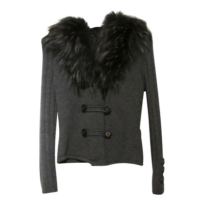 Max & Co Cashmere Cardigan with fur collar