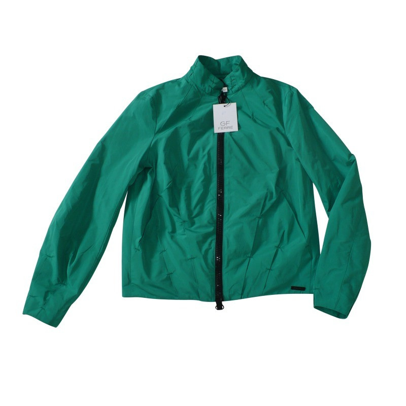Ferre Short rain jacket Green - Buy Second hand Ferre Short rain ...