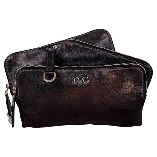 28dd2d2e52 Dolce   Gabbana Clutch Bag Leather in Black - Second Hand Dolce ...