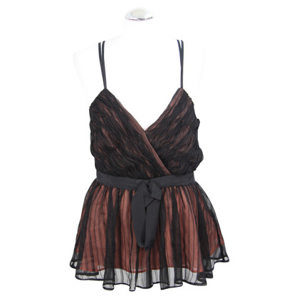 French Connection Silk top in black