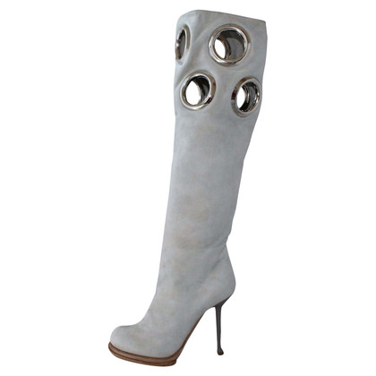 Gianmarco Lorenzi stivali di camoscio