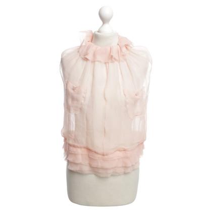 Nina Ricci camicetta di seta in rosa