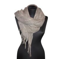 Dondup Wollen sjaal in Grijs Bruin