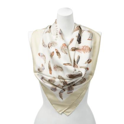 "Hermès Silk scarf ""Plumes"""