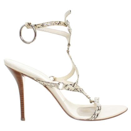 Helmut Lang Cream-coloured leather sandal