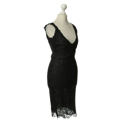 Red Valentino Dark blue lace party dress