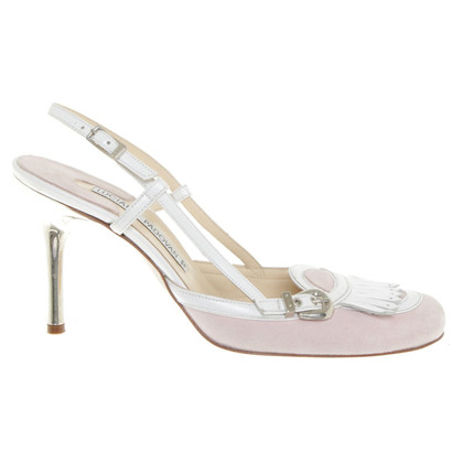 Luciano Padovan Sandals in Roze / Wit