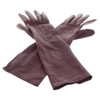 Lanvin Leather gloves in Eggplant