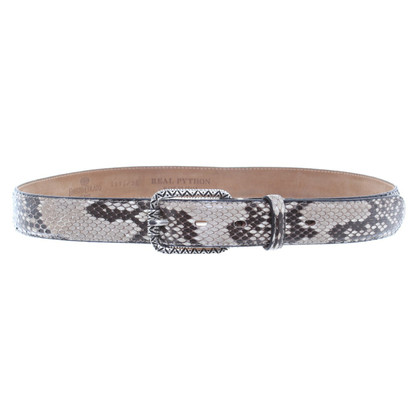 Fausto Colato Printed Python leather belt