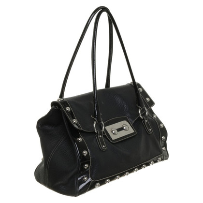 Dolce & Gabbana Black leather bag with silver studs