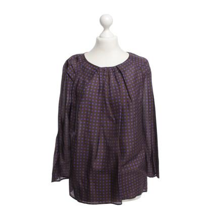 René Lezard Silk blouse with points