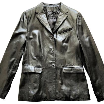 Natan Leather Blazer