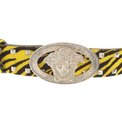 Versace Gürtel in Schwarz/Gelb
