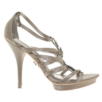 BCBG Max Azria Sandals with semi-precious stones