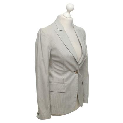 Stella McCartney Striped blazer in grey / white