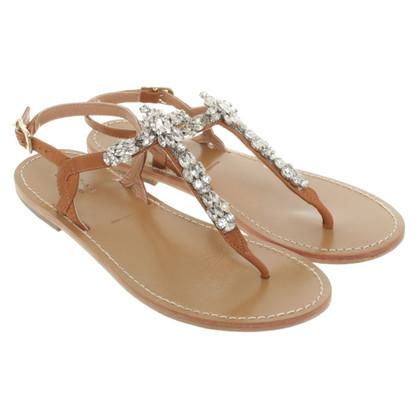 Twin-Set Simona Barbieri Sandals with gemstone trimming
