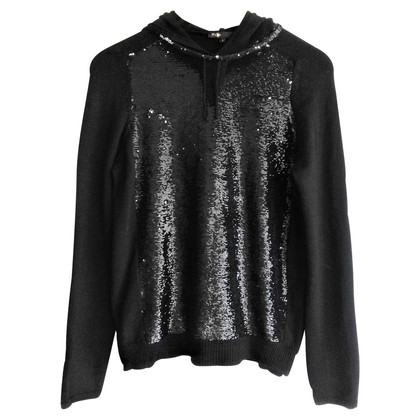 Maje Sequin hooded cardigan