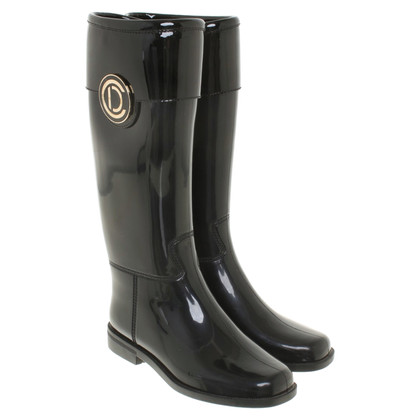 Christian Dior Rubberen laarzen in zwart