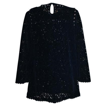 Ermanno Scervino Velvet lace stud blouse