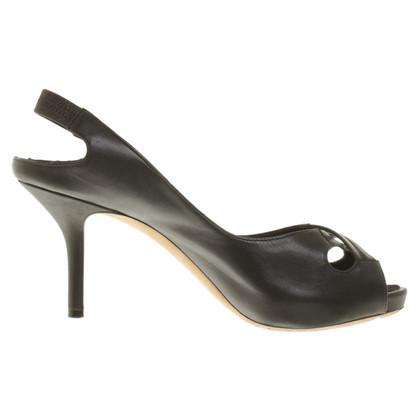 Donna Karan Peeptoes in black