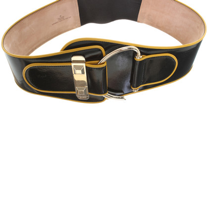 Gucci Waist belt in black and yellow