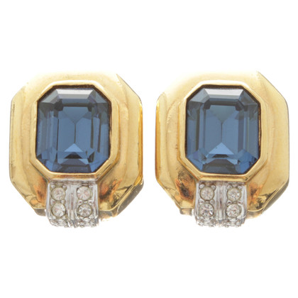 Lanvin Clip earrings with gemstones