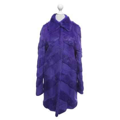 Versace Fur coat in purple