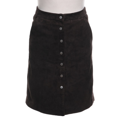 All Saints Uitgegeven rok in suede
