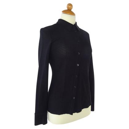 Armani Collezioni Geribbelde blouse