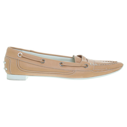 Tod's Leather slipper in beige