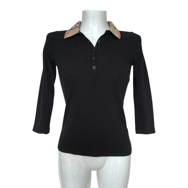 black burberry collar shirt